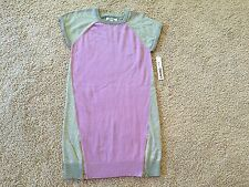 New DKNY Girls Sparkle Sweater Dress Frosted Lilac. Size XL(16)