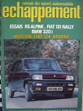 ECHAPPEMENT 1976 RENAULT 5 ALPINE / FIAT 124 ABARTH STORY + 131 RALLY ABARTH