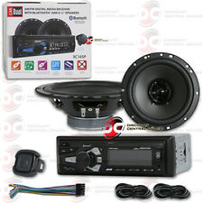 DUAL 1-DIN AM/FM CAR STEREO AUX MP3 USB WITH BLUETOOTH + 2 x 6.5
