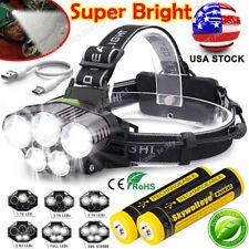 350000LM 5X LED Headlamp Bright Rechargeable Headlight Flashlight Head Torch