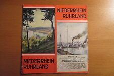 altes Reiseprospekt Niederhein Ruhrland ,24 Seiten, 1939