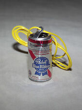 VINTAGE 1970S MINI PABST BLUE RIBBON BEER CAN NECKLACE NICE UNUSED CONDITION