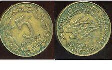 AFRIQUE EQUATORIALE FRANCAISE 5 francs 1958