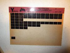 1985 Yamaha 3 Wheeler YTM200N Tri Moto Parts Catalog YTM 200 N Three