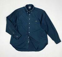 Replay camicia uomo usato XL shirt man used pesante manica lunga blu T5933