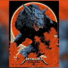 More details for metallica - of wolf and man - silk screen poster hand numbered 1/500