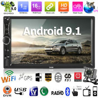 "7"" 2Din Android 9.1 Quad Core GPS WiFi Car Radio Stereo MP5 Player FM w/ Camera"