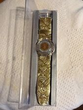 "1992 Pop Swatch gold Watch ""Guinevere"" - PWK 169 - NIB VINTAGE!!"