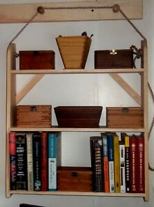 Hanging Shelves in Traditional  Shaker Style, natural Pine