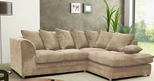 Dylan Corduroy Fabric Crum English Corner Sofa Settee Couch Armchair Footstool