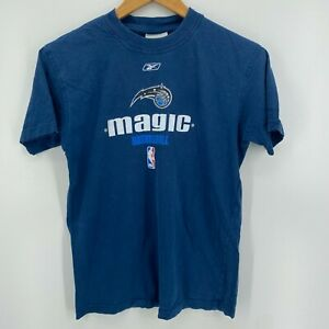 Reebok T-Shirt Youth Size L Blue Orlando Magic Basketball NBA Boys