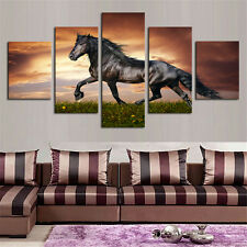 Modern Canvas Prints Abstract Oil Paintings Wall Art Wild Horses Decor Unframed