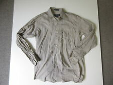 Men's BURBERRY Sz S Long Sleeve Shirt Brown ExCon Work Guys | 3+ Extra 10% Off