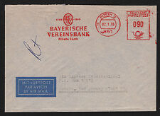 OPC 1976 Germany Furth Bayerische Vereinsbank Francotyp Private Advertising Mete