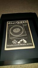 Queen Jazz Rare Original Hmv Uk Promo Poster Ad Framed!