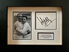 Alfredo Di Stefano Hand Signed White Card In A4 Frame Display - Real Madrid