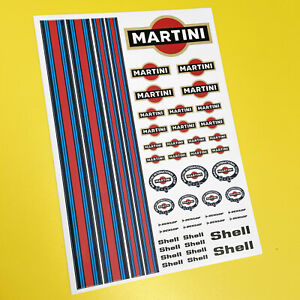 RC Martini 10th scale Stickers Decals ideal to fit Mardave Kyosho Tamiya HPI