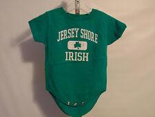 NEW GREEN JERSEY SHORE IRISH SHAMROCK SHORT SLEEVE ONE PIECE 12 MONTHS