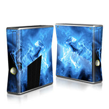 Xbox 360 S Console Skin - Blue Quantum Waves - DecalGirl Decal