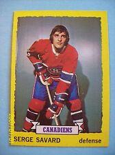 1973-74 Topps # 24 Serge Savard Vintage Card!  N/MT or Better!