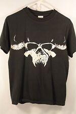 Danzig T-Shirt Men Small Punk Metal Misfits Samhain Skull Black Broken-In