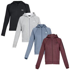 Under Armour Ladies Rival Fleece Full Zip Hoodie - UA Gym Sweater Warm Top