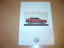 DEPLIANT Alfa Romeo 33 de 1987