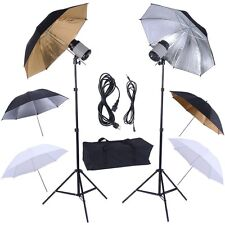 "33"" Photography Photo Lighting Studio Light 6 Umbrella Flash Mount Stand Set Pro"