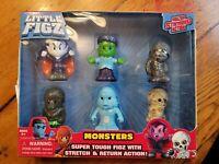 Monsters Little Figz Figures Stretch Action Vampire Frankenstein Mummy Werewolf