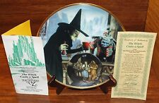 The Witch Casts a Spell Wizard of Oz Hamilton 1939 23k Gold Rim Plate Collection