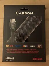 "AudioQuest Carbon HDMI 2m (6'7"") Black Cable 4K UHD ultraHd  HDR 18G bps"