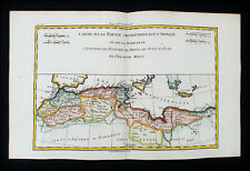 1770 BONNE - Original Map of AFRICA NORTH, MAROCCO, MEDITERRANEAN SEA, BARBARIE