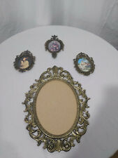 New ListingVintage Brass Rococo Frames Made in Italy Set of 4, 1 large. 3 small