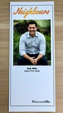 More details for rob mills *finn kelly* neighbours unsigned cast fan card v rare
