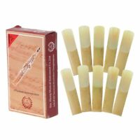 10pcs Bb Soprano Saxophone Reed Strength 2.5 Bamboo Woodwind Sax Instrument Part