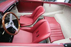 PORSCHE 356 SPEEDSTER BUCKET SEAT COVERS PAIR RED VINYL