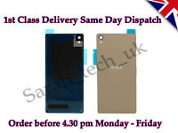New Sony Xperia Z3 Battery Back Cover Panel Rear Glass with Adhesive Gold Copper
