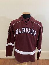 Men's Champion Burgundy Harvard Crimson Hockey University Hoodie, Size Small