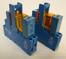 (2) Finder 48.31.8.120.0060 Relay Interface Modules 120VAC 10A DIN Rail