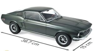 FORD Mustang MKI Fastback Coupe 1968 green grün McQueen Muscle Car NOREV 1:12