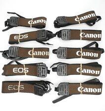 Lot Of 10x Vintage Canon Brown / White EOS Camera Neck Straps