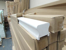 White Primed HDR Profile Stair Handrail  & Base Rail 2400mm 41mm groove