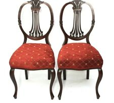Pair of Antique Hepplewhite Style Mahogany Shield Back Chairs [5982A]