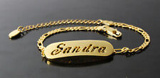 SANDRA - Bracelet With Name - 18ct Yellow Gold Plated - Gifts For Her - Fashion