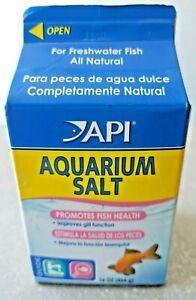 Fish Tank API Aquarium Salt for Freshwater Fish Health Aquarium 16oz