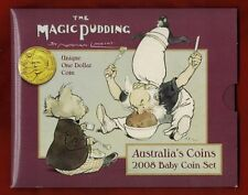 2008 Australia's Baby Coin Set, The Magic Pudding, Lindsay $1, Six Coin Unc Set