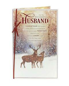 Classic Husband Christmas Card with lovely words