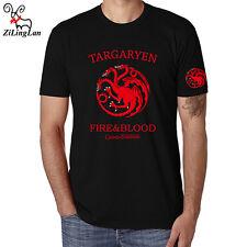 FIRE&BLOOD Game of thrones targaryen Printed Men Cotton T-Shirt Short Sleeve