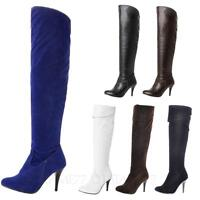tata Party Womens thigh length shoes over knee mens High Heels Boots Plus size