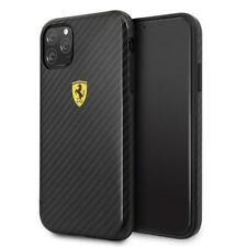 Ferrari On Track Hard Case Hülle Cover Carbon Schwarz f. Apple iPhone 11 Pro Max